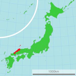 島根県の場所