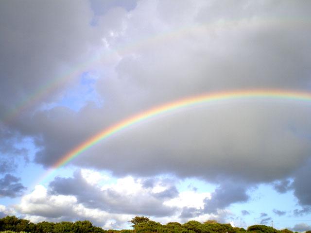 幸運の二重の虹inIreland